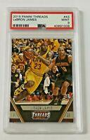 2015-16 Panini Threads PSA 9 (Pop 2) Lebron James #43 Cleveland Cavaliers