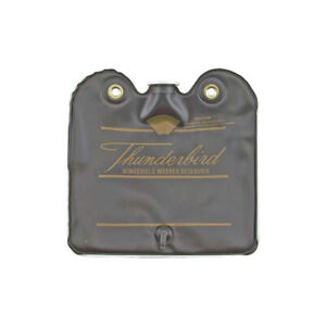 1964-1965 Ford Thunderbird Windshield Washer Bag, Black With Gold Letters, With