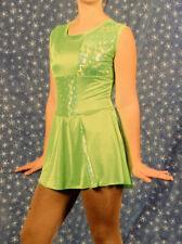 Sherrie's Stars Teen Lime Green Ice Skating Dress S