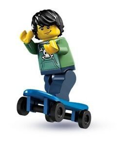 NEW LEGO SKATER DUDE w// STAIR RAIL MINIFIG skateboarder minifigure skateboard