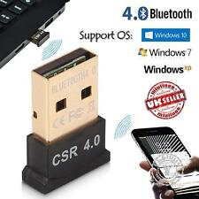 USB Bluetooth v4.0 Adaptador Inalámbrico Dongle CSR 4.0 EDR para Windows 10 XP