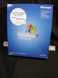 Microsoft Windows XP Professional store purchase full copy in box 2002 SP1