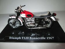 TRIUMPH BONNEVILLE T120 1967 1-24 SCALE ATLAS  EDITIONS MOTORCYCLE MODEL