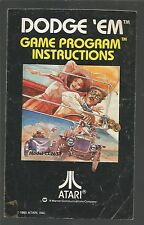 Manual/Instructions only - DODGE 'EM - for Atari VCS 2600 - MANUAL ONLY