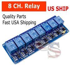 8 Channel 5v Relay Shield Module Board For Arduino Raspberry Pi Arm Avr Cn