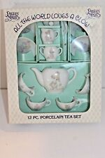 "Vintage Precious Moments Porcelain Tea Set ""All the world Loves a Clown"" Enesco"