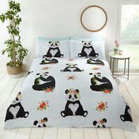 Rapport Cute Panda Floral Duvet Cover Bedding Set FREE P&P