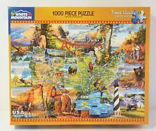 White Mountain 1000 piece Jigsaw Puzzle - National Parks America - Map