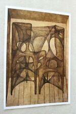 Original Poster Printout of Zdzisław Beksinski drawing on satin paper 2
