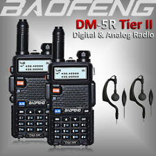 2x BAOFENG DM-5R DMR Digital Two Way Ham Radio Tier II Dual Band Walkie Talkies