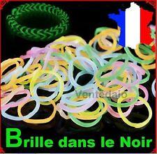 600 Elastiques Fluorescents +25 Clips+Crochet Bracelets Bands Style Rainbow Loom