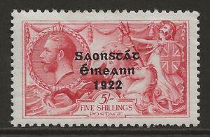 IRELAND 1922 2/6 rose-carm Seahorse 'Irish Free State'(Thom) VF mint SG#65 cv£85