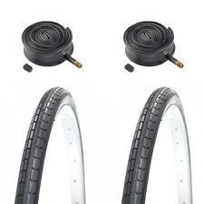 (Pair of) 26 X 1 3/8 (37-590) Bicycle Tyres & Tubes For Traditional Bikes