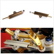 Cnc Aluminum Motorcycles Steering Stabilizer Damper Golden+Box For Yamaha Honda