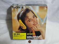 NEW (Open box) Sony SRF-M50 Sports Walkman FM Radio Stereo Headphones SRFM50