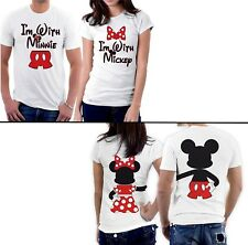 """Coppia T-Shirt """"Mickey Mouse & Minnie"""" Disney - Doppia stampa avanti e dietro"""