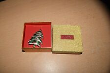 Macy's Christmas Holiday Lane Pin Brooch Rhinestone Xmas Tree NEW IN BOX!
