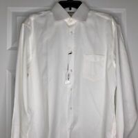 New Thomas Pink Mens Dress Shirt Classic Fit White Size 16-36.5