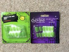 ADULT GLOW IN THE DARK  NAIL SETS x 2 PACKS