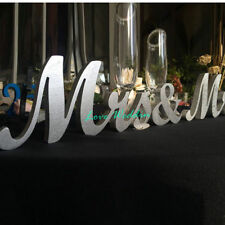 Mr and Mrs Traditional and Elegant Wedding top table wood sign Mr & Mrs in your
