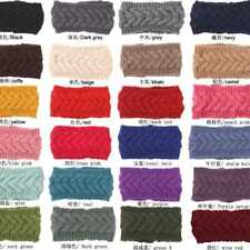 Candy Color Knitted Crochet Knitted Woolen Turban Headband Fashion  Supply