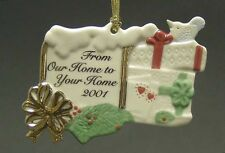 """Lenox China 3"""" 2001 From Our Home To Yours Ornament - Discontinued!"""