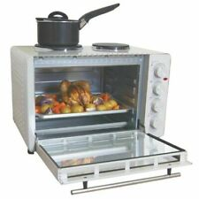 Igenix 45 L Mini Oven with 2 Hotplates - White (IG7145)