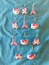 Hello Kitty Bonjour Shower Curtain Hook Paris Eiffel Tower French Poodle Sanrio