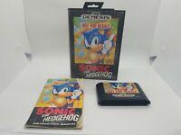Sonic the Hedgehog (Sega Genesis, 1991)CIB Complete Game Case & Manual TESTED