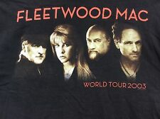 """Fleetwood Mac World Tour 2003 """"What's The World Coming To?"""" 2 sided T-shirt sz M"""