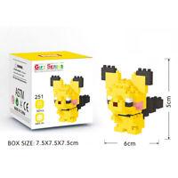 Pichu Pokemon Nanoblock 3D Puzzle Toy Mini Micro Diamond Block 100 Pieces