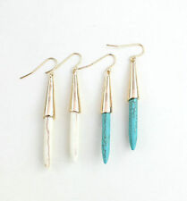 18K Gold Plated Turquoise Natural Stone Drop Earrings Fashion