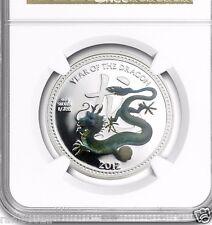 2012 1/2 oz Silver Niue $2 Pearl Dragon NGC PF-69 UCAM