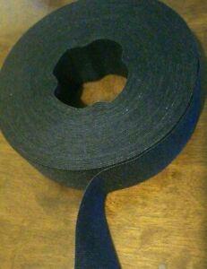 """Velcro®One Wrap® Self Gripping Strap Hook & Loop Fastener 1-1/2 """"  Black"""