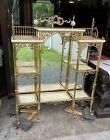 VICTORIAN BRASS AND ONYX MARBLE ETAGERE