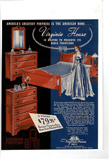 Vintage Virginia House Bedroom Furniture Hard Rock Mountain Maple Ad Print C561