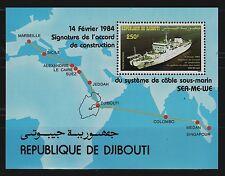 SELLOS TEMA BARCOS DJIBOUTI 1984 HB 3 1v.
