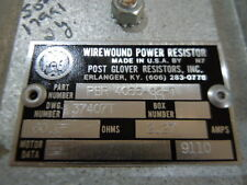WiIREWOUND Power Resistor Post Glover 60 OHM 2.27  AMPS NOS