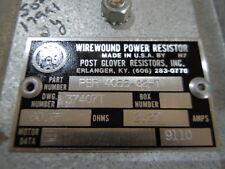 WiIREWOUND Power Resistor Post Glover 60 OHM 2.27  AMPS NOS