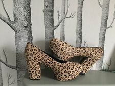Ladies high heel leopard Skin Court Shoes With Platform .size 40