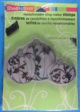 Stampendous Damask Pumpkins Rubber Stamp