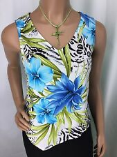 Jillian Tracy By Jolibel Multi Color Floral Sleeveless Top Womens Size 6 NWT