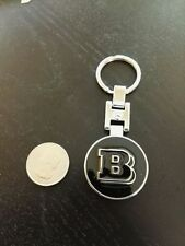 New double side metal chrome keychain key chain holder for Mercedes Benz BRABUS