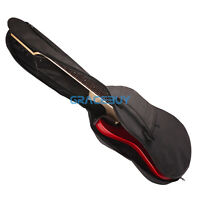 Black Soft Offord Colth Sponge Padded Electric Guitar Back-Pack Gig Bag Case New