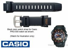 Genuine Casio Watch Strap Band Casio PRG-550, PRG550, PRG-550-1A4 - Black Resin