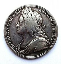 More details for 1727 coronation of george ii silver medal/medallion ( eimer 510 ) f+