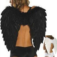 Adults Kids Feather Wings Angel Fairy Fancy Dress Costume Halloween Party Favor