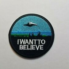 X Fichiers I Want To Believe Rond Patch 3 inches Grand