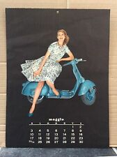 VESPA PIAGGIO Vintage Italian MAY AUGUST 1959 Calendar MODS GS150 SCOOTER