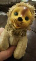 Vtg 50'S Rubber Face Lion Doll Plush Toys No Tag Gund or Rushton Rare & Precious